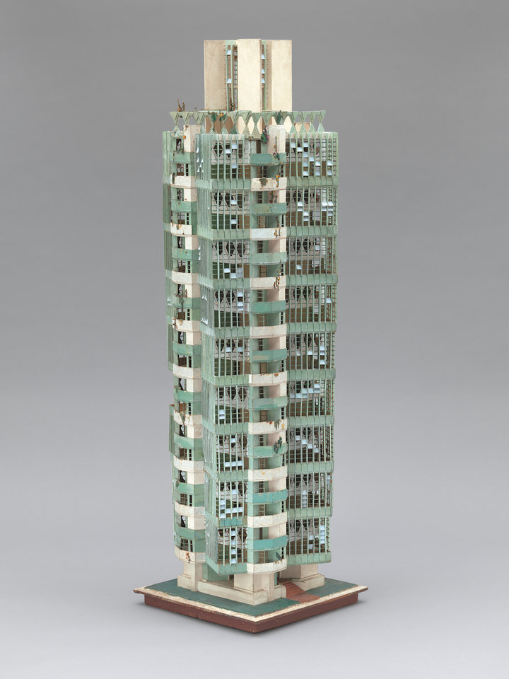 Frank Lloyd Wright (American, 1867–1959). Model of St. Mark's