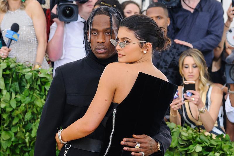 Travis Scott, Kylie Jenner. 2018 Metropolitan Museum of Art Costume Institute Gala